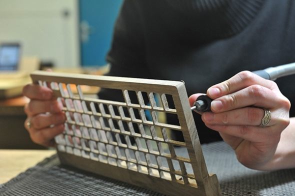 The Orée wireless wooden keyboard